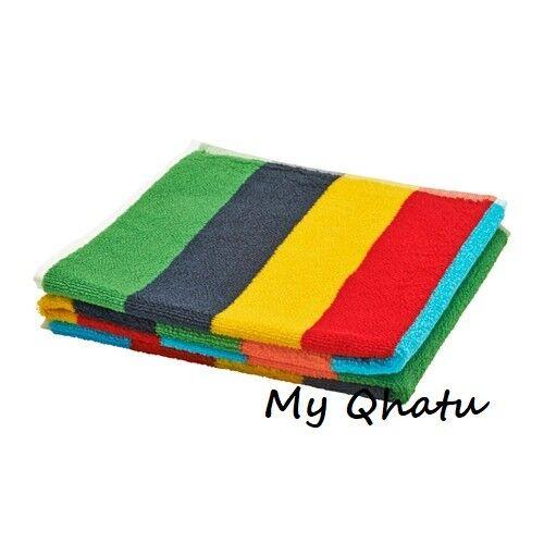 IKEA NIMMERN Washcloth multicolour Free Shipping