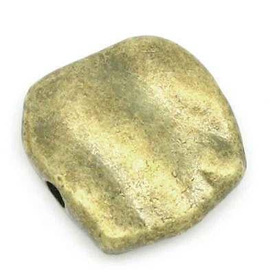 Großverkauf Bronzefarben Quadra Spacer Perlen Beads 11mmx10mm K02201