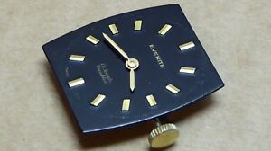 Ladies gold plate Everite watch, black dial, all working well and keeping time.