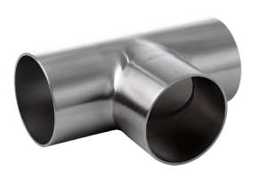 Hygenic 3  Full Equal Tee Polished Stainless Steel