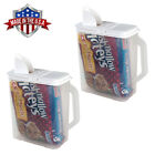 2 Pack Food Storage Container 6 Qt Flour Sugar Keeper Pour n' Store with Handle