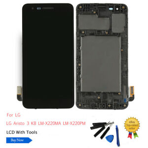 LCD-Screen-Digitizer-Assembly-Frame-For-LG-Aristo-3-K8-2019-LM-X220MA-LM-X220PM