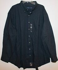 Polo Ralph Lauren Big and Tall Mens Green Blue Check Button-Front Shirt NWT 4XLT