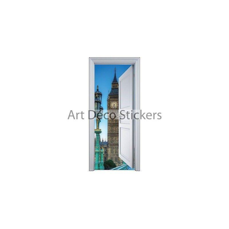 Etiqueta engomada de la puerta del maletero el ojo Big Ben Londres 90x200cm 9106 Prestashop - 5560
