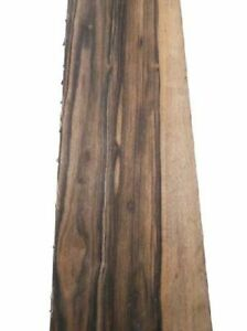 Macassar Ebony Wood Board Level Ebano Ebony 95x15, 5/16cm 12/13mm