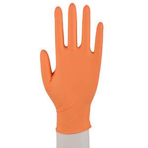 Persönliche Schutzausrüstung Sicherheit & Gebäudeinstandhaltung Offen Abena Nitril Handschuhe Puderfrei 1000 Einmalhandschuhe Einweg Xs-xl Orange