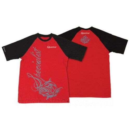 Red Fishing Clothing Quantum Specialist T-Shirt for Fisherman 1st Class Post