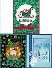 Handmade CROSS STITCH  and REGULAR CHRISTMAS CARDS #CX-I-Lot of 3