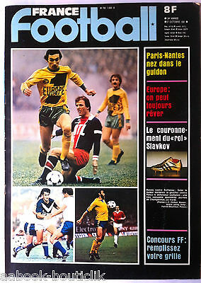 France Football Du 27/10/1981; Paris-nantes/ Slavkov/ Bossis Contre Bathenay