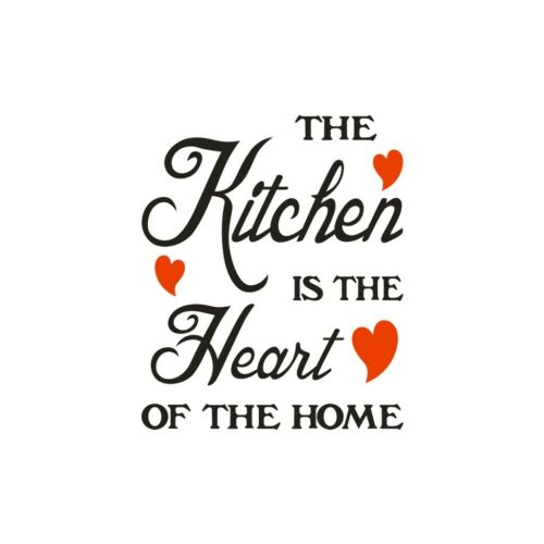 The Kitchen Is The Heart Of The Home Letter Wall Sticker Decor Art Kitchen Decal