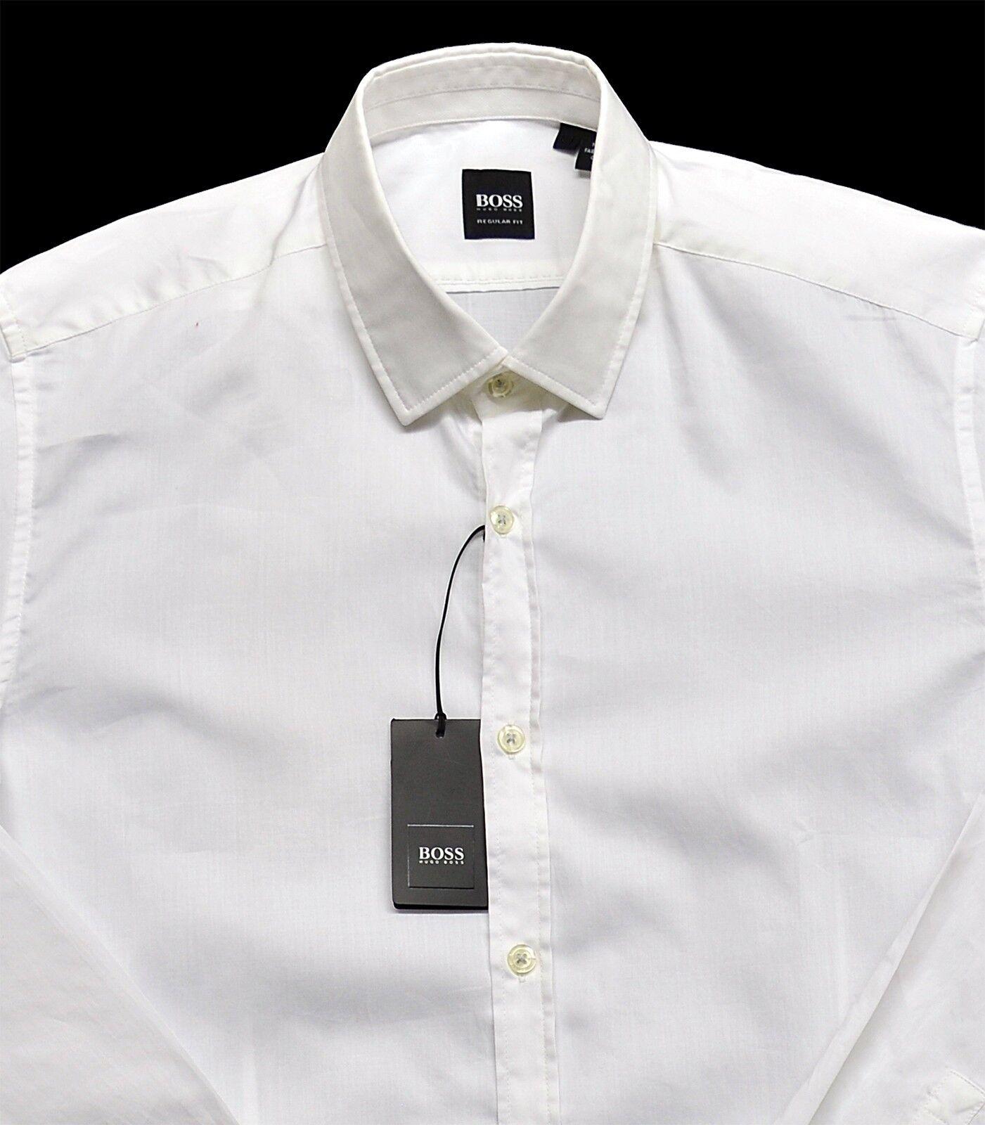 Men's HUGO BOSS White LORENZO Shirt XL XLarge NWT NEW + Regular Fit Nice