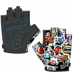 Bicycle Half Finger Gloves For Kids Child Bike Cycling Racing Fingerless Mittens