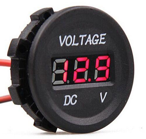 DC 12V-24V Car Voltmeter Socket Voltage Meter Gauge Red LED Digital Display