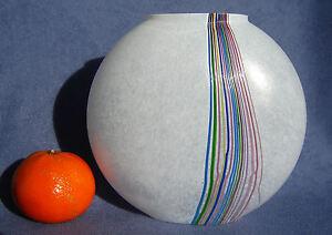 Bertil-Vallien-Kosta-Boda-Rainbow-Range-Vintage-Art-Glass-Vase-1980S-Signed