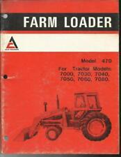 Allis Chalmers Model 470 Loader Operators Manual 7000 Series Tractors