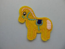 Yellow Rocking Horse Iron on Applique Patch