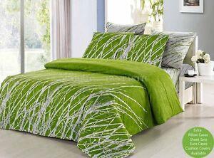 Image Is Loading Green Tree Duvet Doona Quilt Cover Set Queen