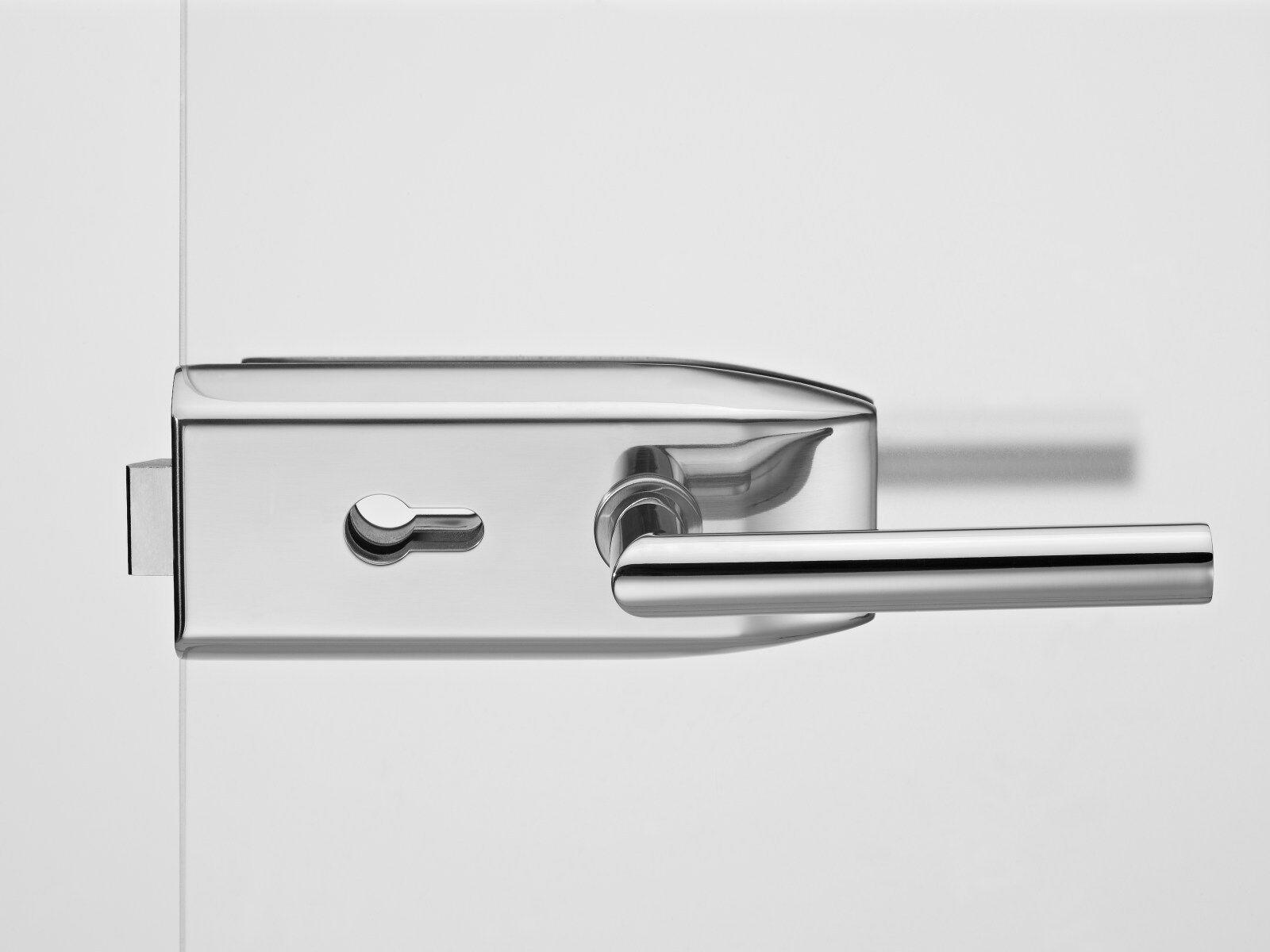 Glastürbeschlagset V100E.CH.PZ-LH102 Edelstahl poliert | Charmantes Design  | Offizielle  | Sehr gute Qualität  | Düsseldorf Online Shop