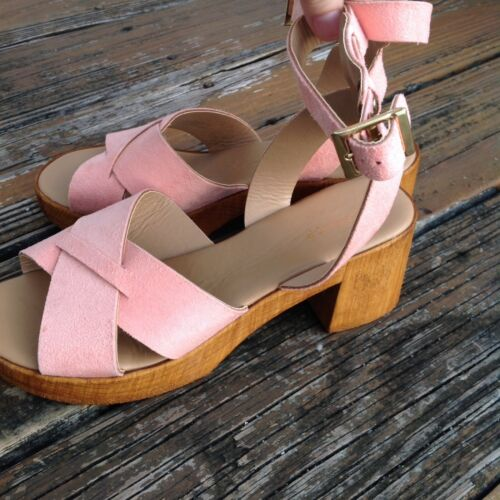 Dolly zapatos Shop Uk con Topshop 40 plataforma Sandalias Top en 7 Suede 5 Eu Peach cuña 9 pB5aE5f