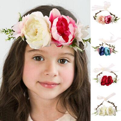 LC/_ BABY GIRLS KIDS ROSE FLOWER BOWKNOT ELASTIC HEADBAND HEADWEAR HAIR DECOR C