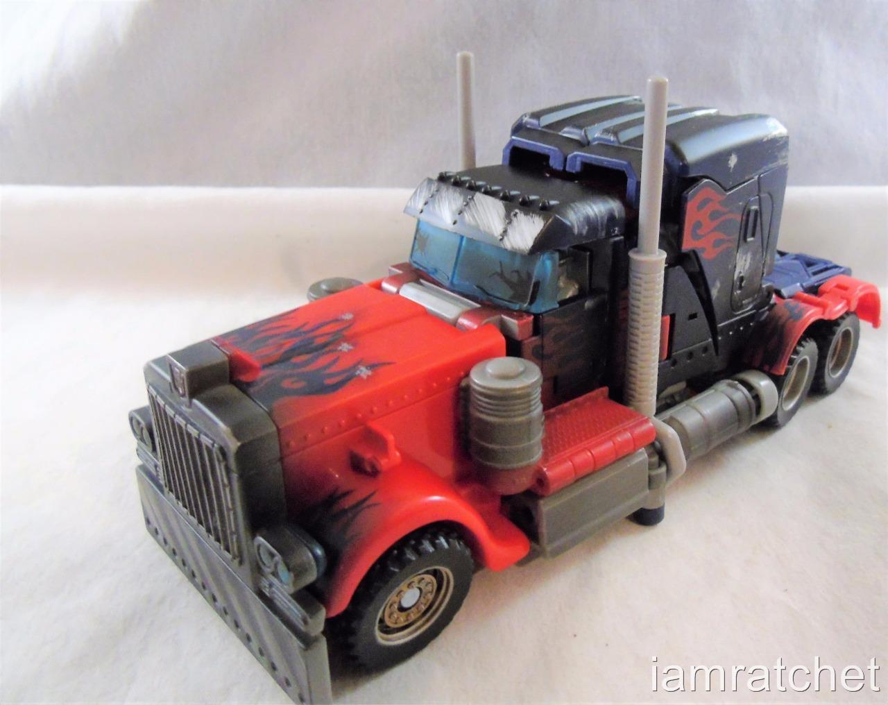 Transformers Movie 2007 Voyager Battle Damage Exclusive Optimus Prime Complete