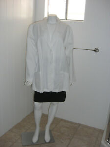 New Cherokee Women White Style# 348 Button Medical Lab Coat Size 16