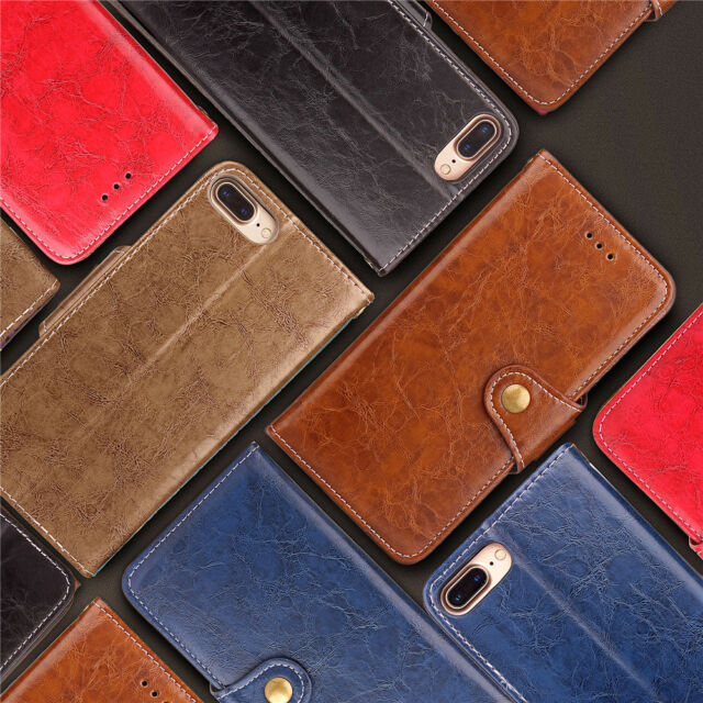 FZ Luxury Fashion Leather Flip Cover Wallet Case Card Pocket Kickstand Strap SD
