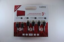 VIZIO  HIGH SPEED HDMI CABLE 3-PACK (2-8 ft, 1-4ft)  BRAND NEW!