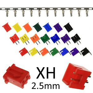 2-pin-Colour-XH-2-5mm-Connector-Sets-JST-XH-Style-Straight-90-Angled-RC