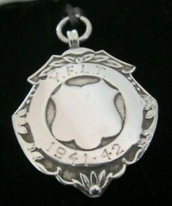 Cased-Sterling-Silver-Watch-Fob-Medal-1941-42