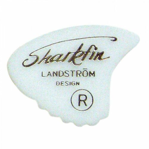 6 x Original SHARKFIN PICK PLECTRUM MEDIUM WHITE GP10M