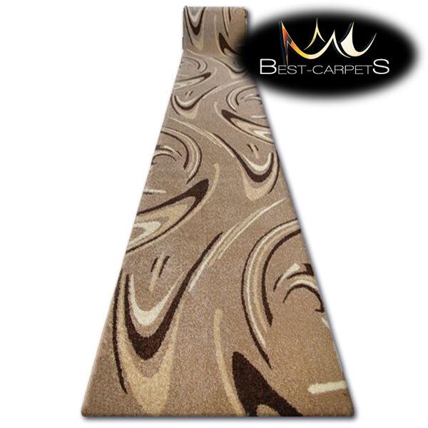 Hall runner karmel café écrou largeur 70-120cm résumé résumé résumé extra long épais doux tapis | Au Premier Rang Parmi Les Produits Similaires  9051f2
