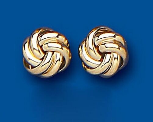 gold Knot Earrings Yellow gold Knot Stud Earrings Knot Studs 8mm