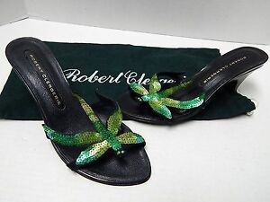discount cost Robert Clergerie Sequined Slide Sandals outlet new arrival cHDBp