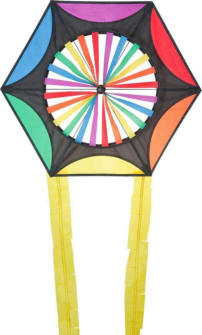 Aquilone Aquilone  una Corda Coloreeeeato Aquilone Bambini Autunno Volare Hexagon  Spedizione gratuita al 100%