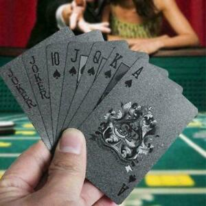 Waterproof-Black-Diamond-Poker-Creative-Playing-Cards-Tool-New-Magic-Tricks-G1V8