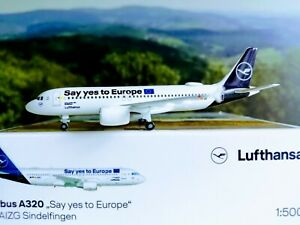 Herpa-Wings-1-500-Lufthansa-Airbus-A320-034-Say-yes-to-Europe-034-034-Sindelfingen-533614