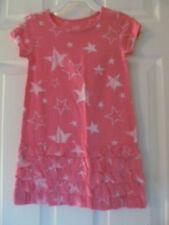 NWT Baby Girls Joe Fresh Short Sleeve Pink Star shaped knee length dress sz 3