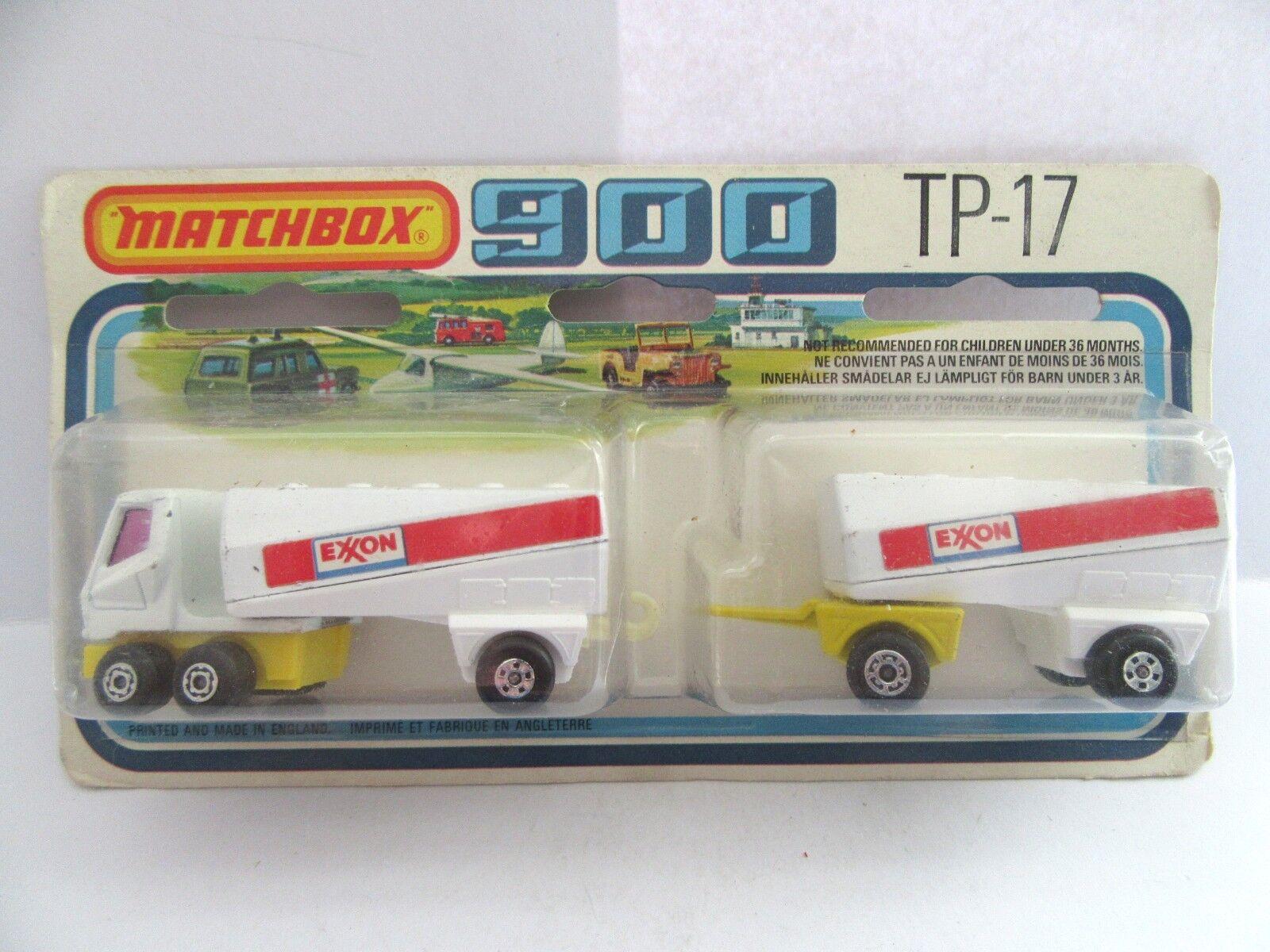 MATCHBOX SUPERFAST TP17 FREEWAY double Navire-citerne pour gaz-EXXON-Comme neuf boxed