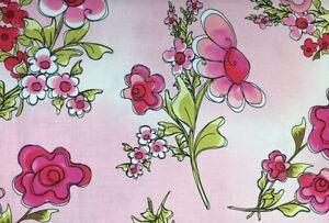 Loralie-Designs-JUMBO-FLORAL-Pink-100-Cotton-Premium-Fabric-Per-1-2-yd