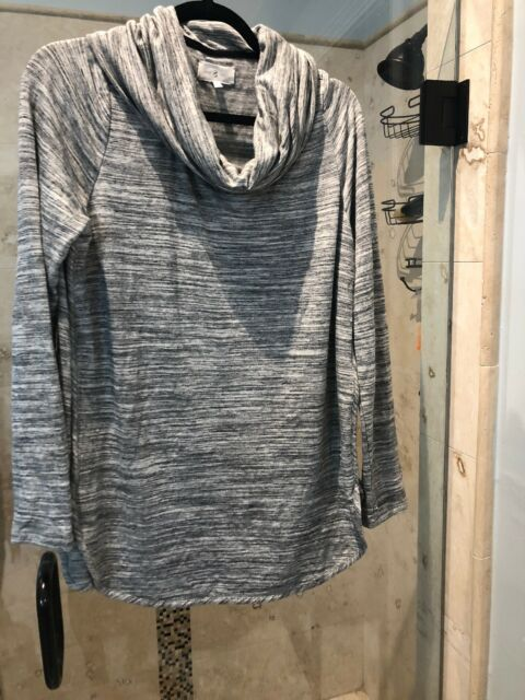 5f3a5b6c30d Lou & Grey Loft Signature Soft Cowl Neck Tunic Top Lt. Heather Gray L Large
