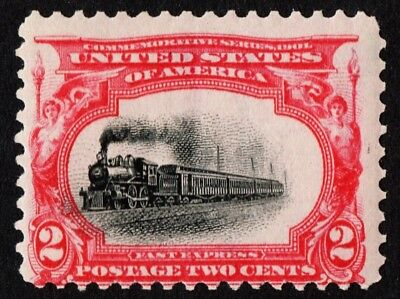 "1901-40: Unused Us Sc# 295 *mint Og Nh* { ""fast Train"" Error Shifted Var } 2c Pan-american 1901 A Wide Selection Of Colours And Designs"