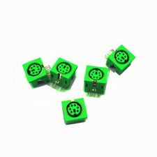 10pcs PS//2 6P Mini DIN Female PCB Mouse Keyboard Connector Green