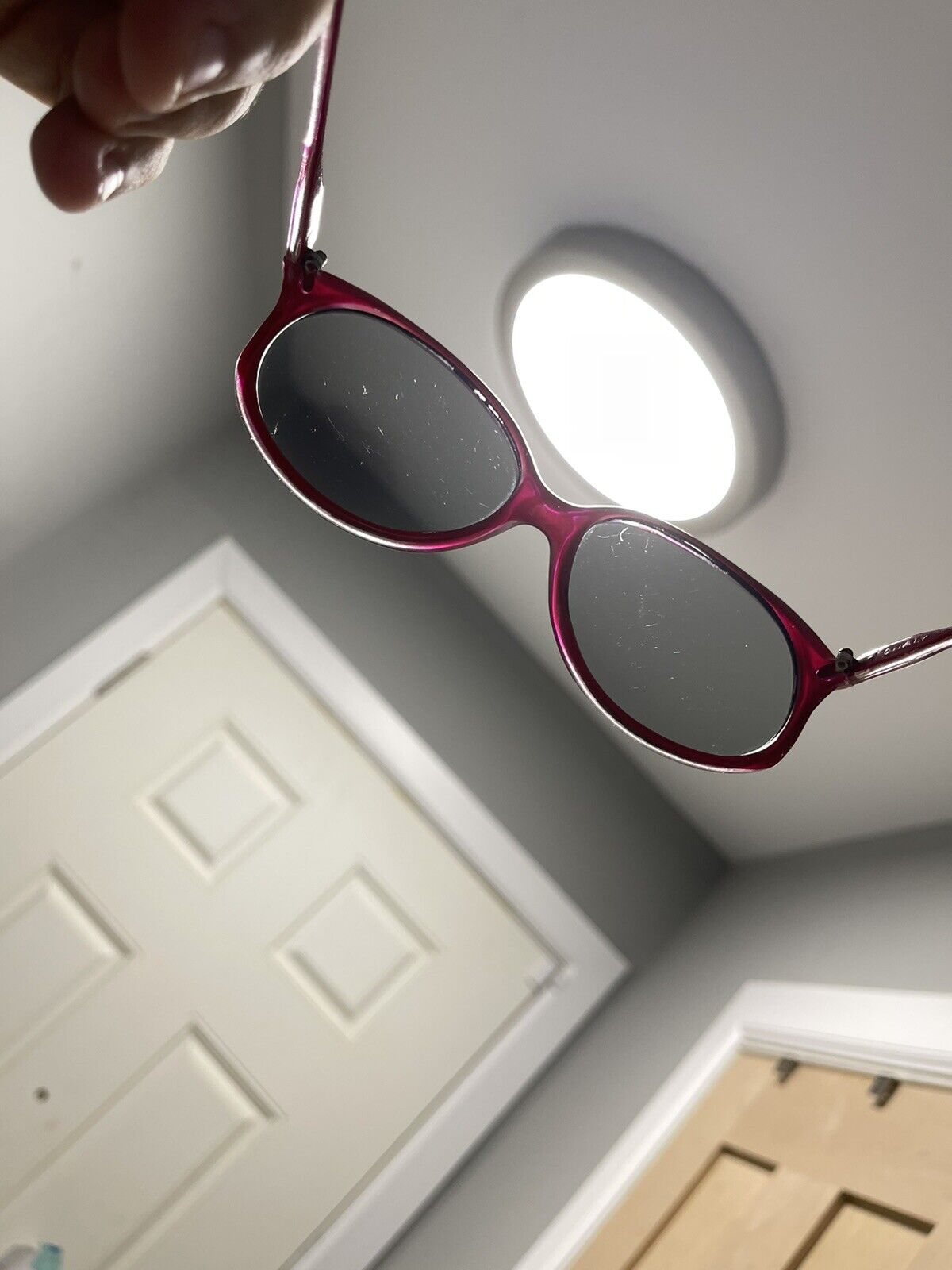 vintage Sunglasses Big Photocromatic Red SUNGLASS… - image 10