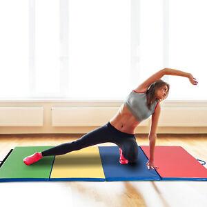 Turnmatte-Fitnessmatte-Gymnastikmatte-Bodenmatte-Weichbodenmatte-klappbar