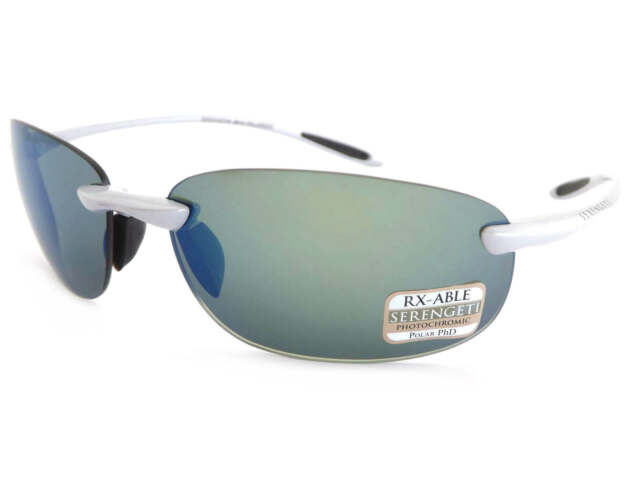 8ee734a8fb8 SERENGETI polarized photochromic NUVINO sunglasses SILVER  555 Blue Mirror  8271