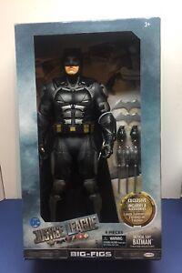 """Jakks Justice League Big-Figs Tactical Suit Batman-19/"""" 9 Pieces"""