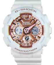 Casio G-Shock Analog-Digital Quartz Chrono 200m White Resin Watch GMAS120MF-7A2