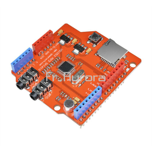 VS1053B MP3 Music shield board with TF card slot work with Arduino UNO R3