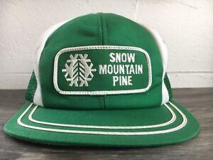 K-Brand-Hat-Snow-Mountain-Pine-Mill-Vtg-Patch-Trucker-Mesh-Workwear-Snapback